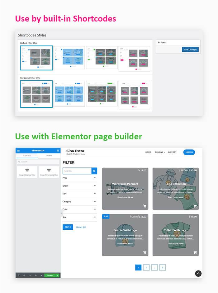 products filter wordpress plugin