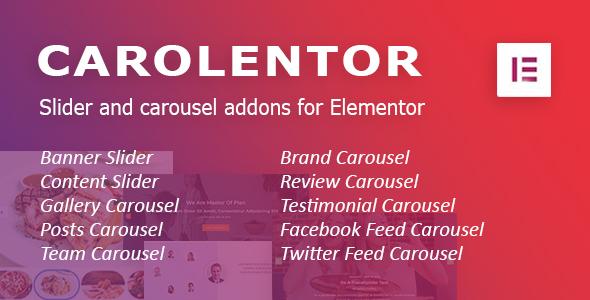Carousel addons for Elementor